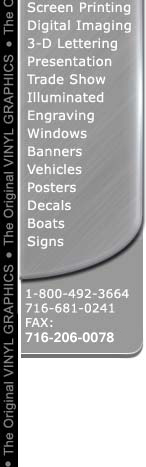 Vehicle lettering, banners, signs
